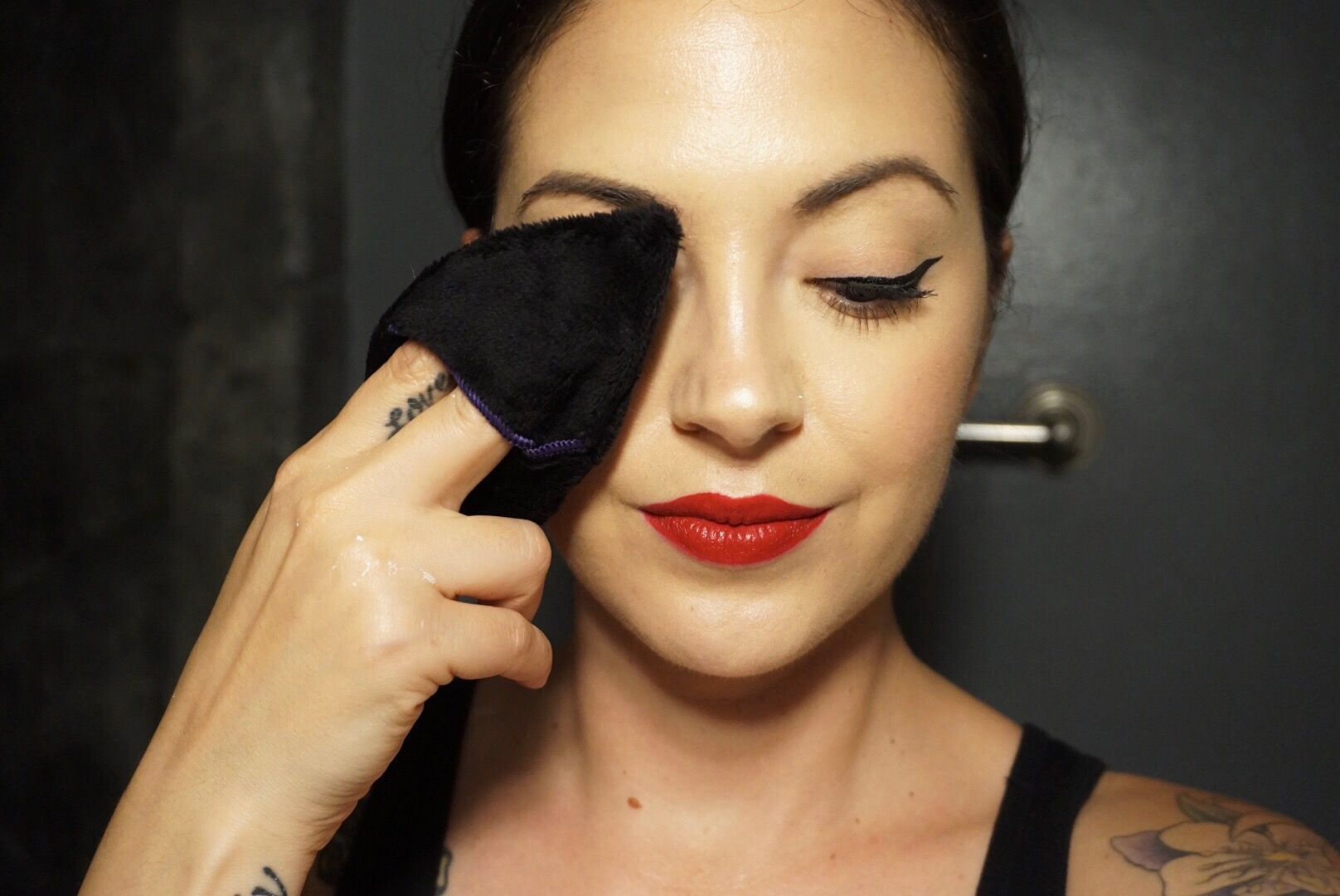 How to get eye makeup off