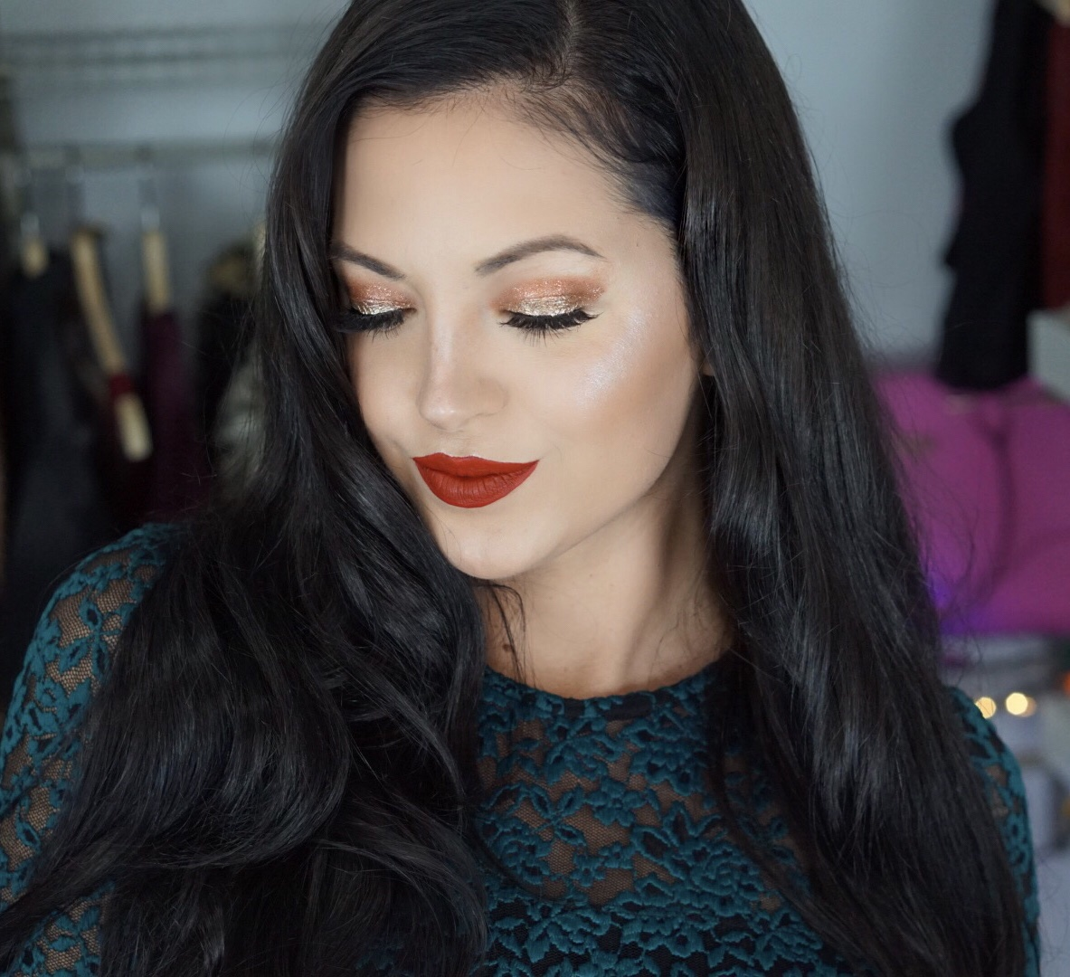 Glam Holiday Makeup Using Products $15 or Less