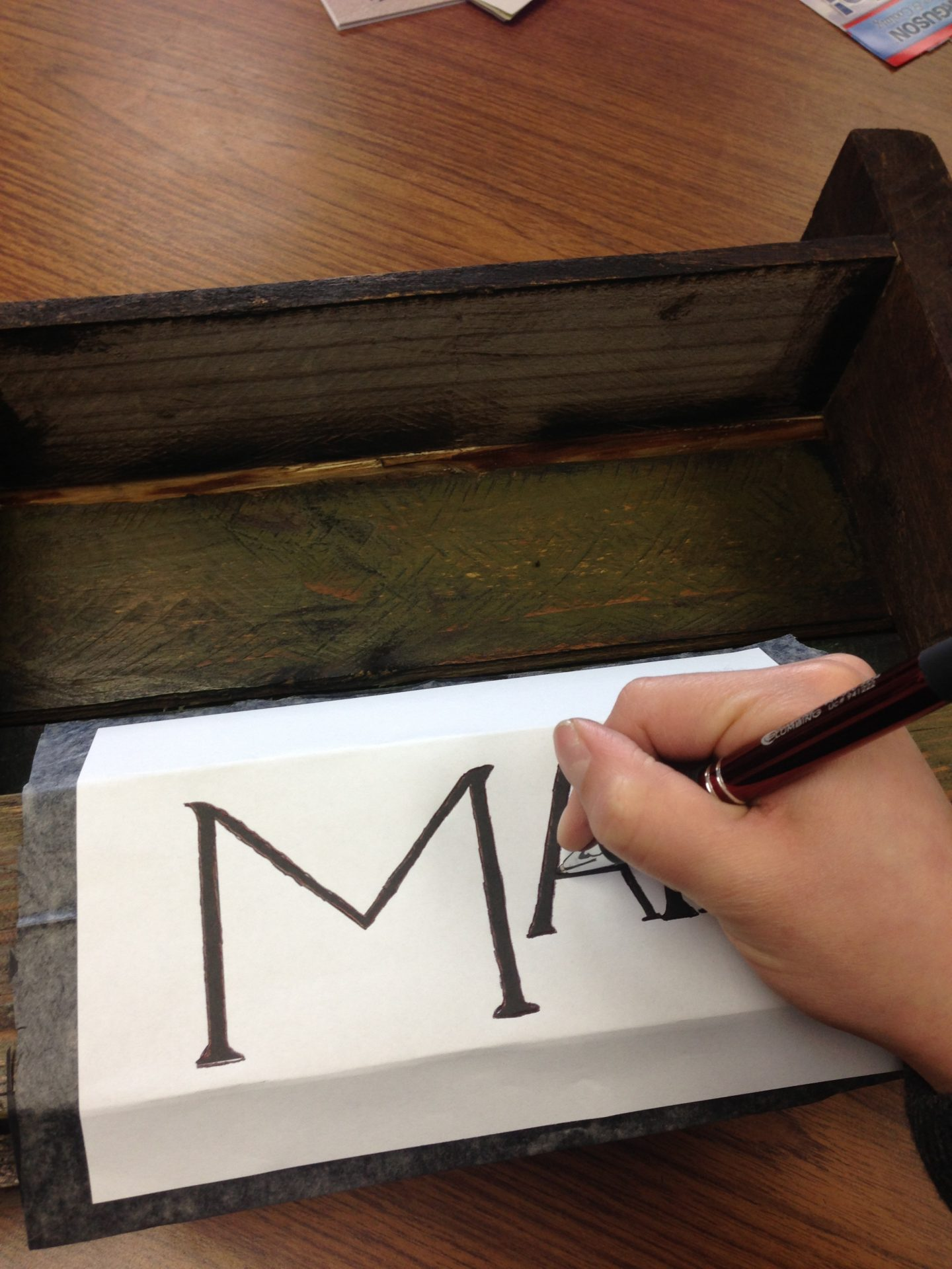Transferring Images and Words to a Wood Surface